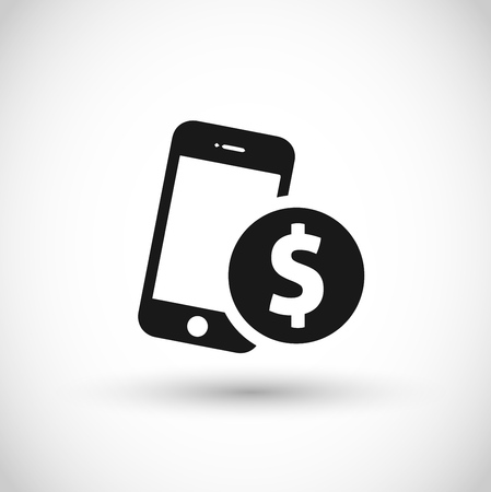Mobile payment icon Vector illustration.