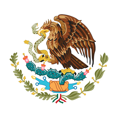 Mexican eagle vector