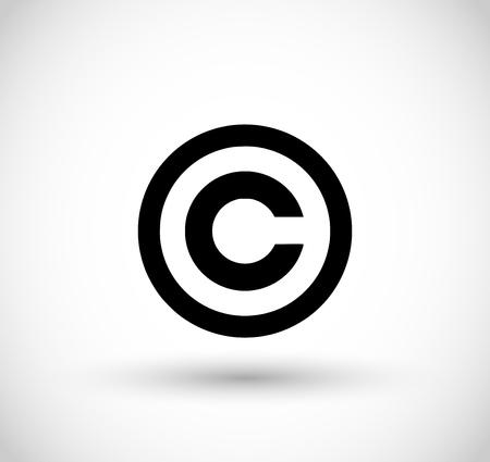 Copyright sign vector  イラスト・ベクター素材