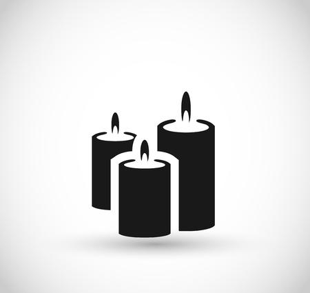 Candles vector icon  イラスト・ベクター素材