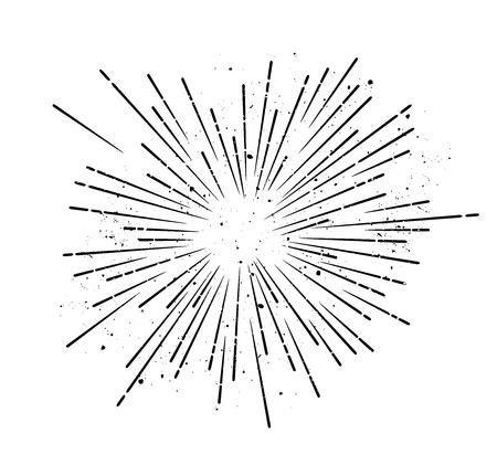 Retro sunburst - grungy vector art Vector Illustration