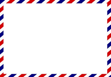 Post card frame vettore Vettoriali