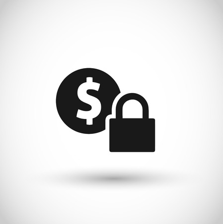 Safe payment icon vector