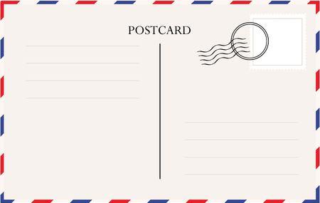Postcard template vector