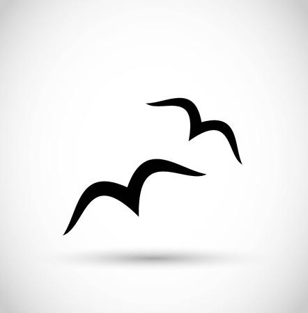 Seagull / birds icon vector