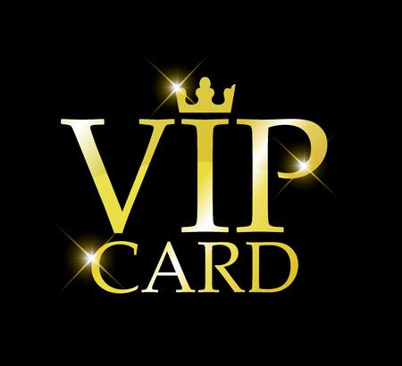 VIP golden sign vector