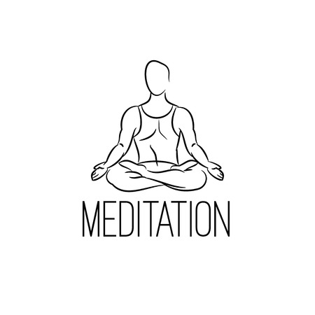 Meditation vector illustration