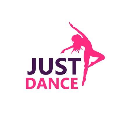 Symbole de conception de vecteur de logo de danse isolé sur blanc