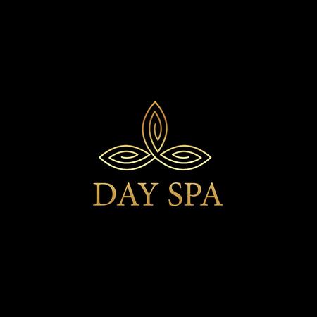Beautiful Day Spa logo sign vector Illustration