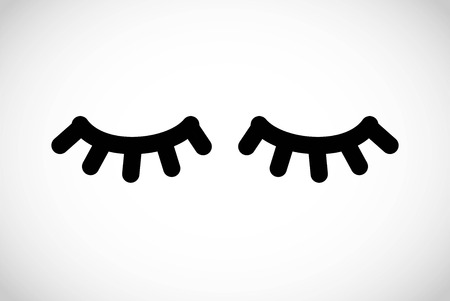 Eyelashes simple icon vector