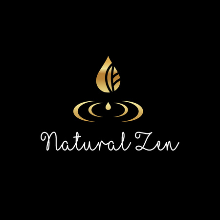 Beautiful elegant logo - Natural Zen vector Vectores