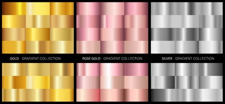 Metal gradients collection VECTOR