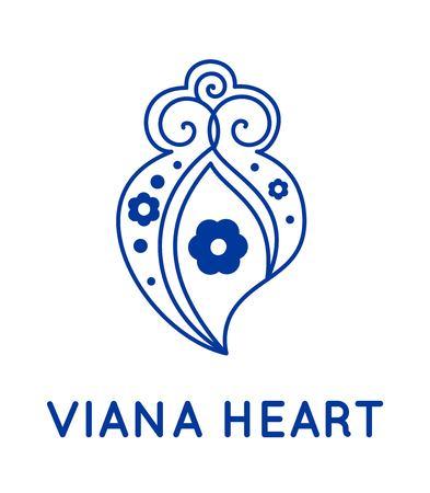 Viana heart vector art Illustration