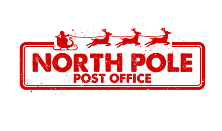 North Pole Post Office rubber stamp