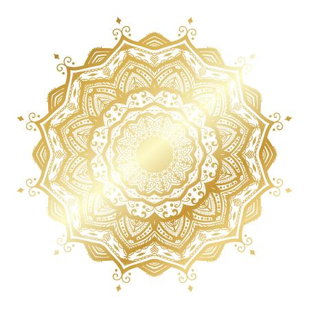 Gold vector mandala Stock Illustratie