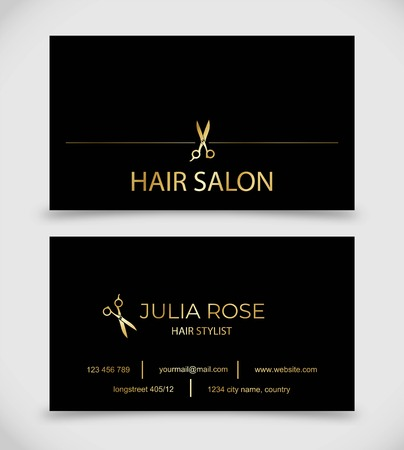 Hair salon hair stylist business card vector template royalty free hair salon hair stylist business card vector template stock vector 101450406 cheaphphosting Gallery