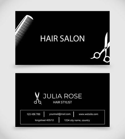Hair salon hair stylist business card vector template royalty free hair salon hair stylist business card vector template stock vector 101450480 flashek Choice Image