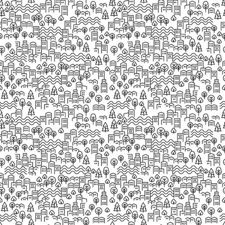 Seamless modern city pattern vector