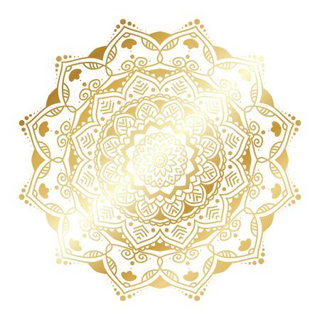 Gold vector mandala