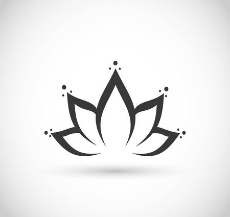 Vector de icono de flor de loto
