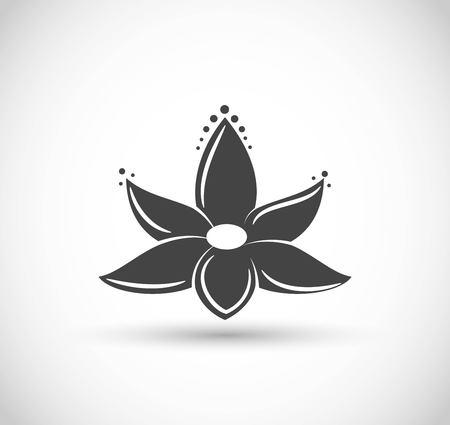 Lotus flower icon vector Illustration