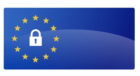 GDPR - General Data Protection Regulation vector illustration symbol
