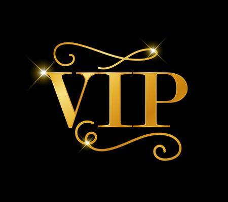 VIP golden vector sign