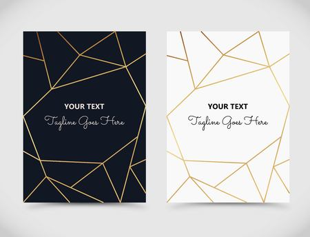 Beautiful template with geometric, linear decoration vector
