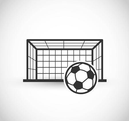Football gate icon vector