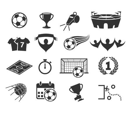 Football icon set vector Ilustracja
