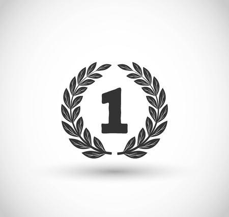 The Winner icon with laurel vector Ilustracja