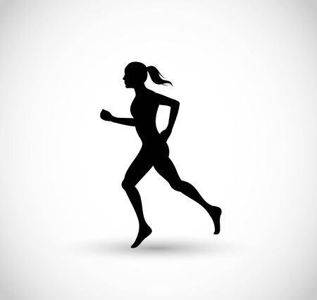 Woman running vector Ilustracja