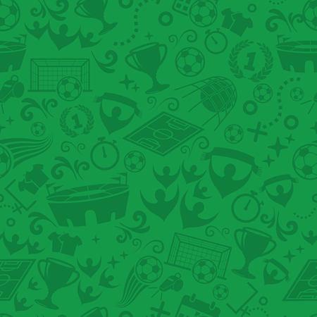 Football, Soccer seamless pattern vector Ilustracja