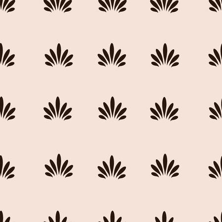Vintage, retro palmette seamless vector pattern