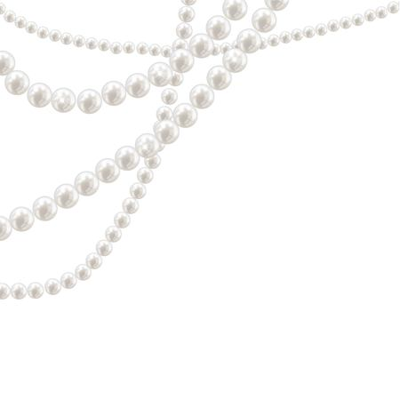 Vector pearl necklace on light background 版權商用圖片 - 104894383