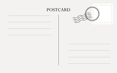 Vecteur de modèle de carte postale Vecteurs