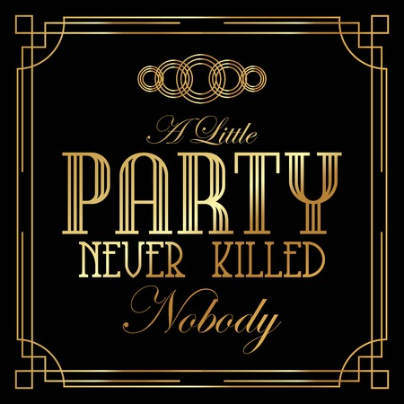 Beautiful, Stylish Art Deco Party Poster vector