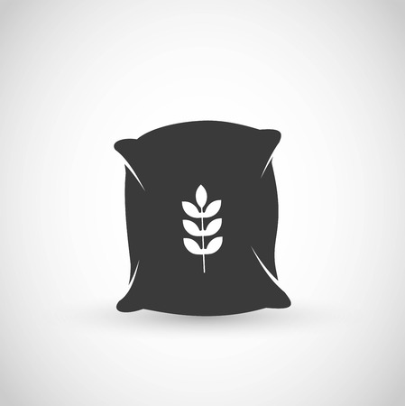 Sack with seeds icon vector
