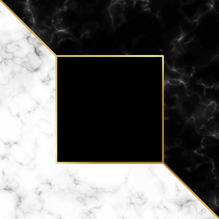 Marble beautiful background vector with gold frame