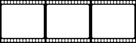 Wektor przezroczystej taśmy filmowej Ilustracje wektorowe