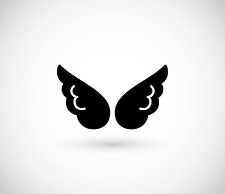 Wing icon vector