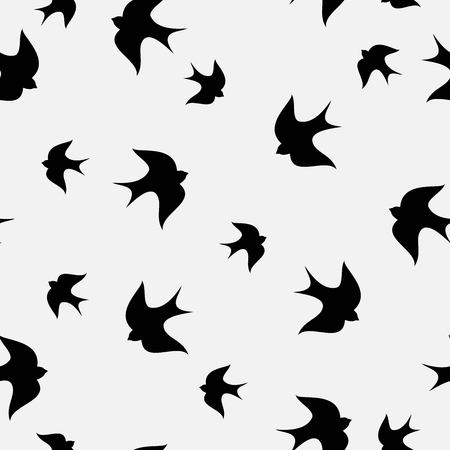 Beautiful simple seamless swallow pattern