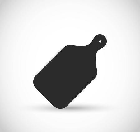 Cutting board vector icon