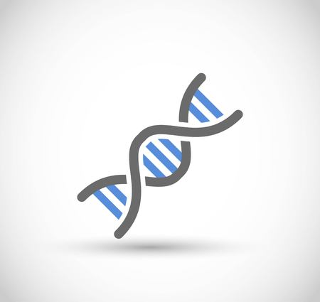 DNA code icon vector