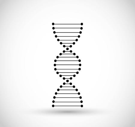 DNA code icon vector