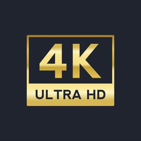 4K Ultra HD vector gold sign