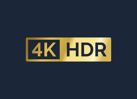 4K Ultra HD vector gold sign Vektoros illusztráció