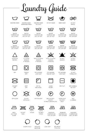 Wasgids vector iconen, symbolen collectie Vector Illustratie
