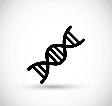 DNA code icon vector Vector Illustration