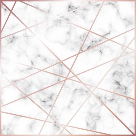 Beautiful marble background with gold lines vector